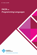 Proceedings of the ACM on Programming Languages
